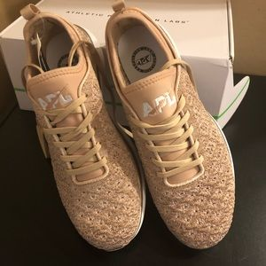 NWT Lululemon APL shoes rose gold size 9.5